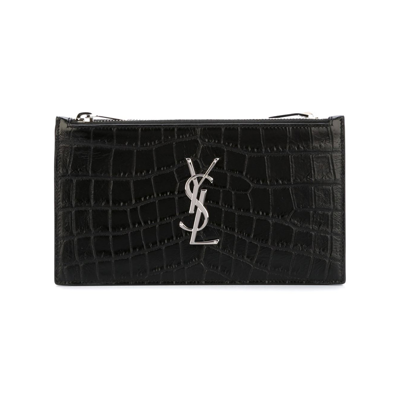 ysl leather clutch
